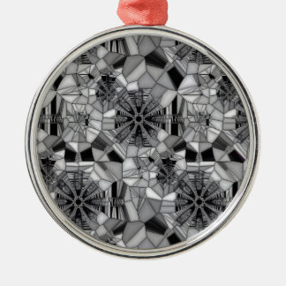 Wheel of Life (Stained Glass) Silver-Colored Round Decoration