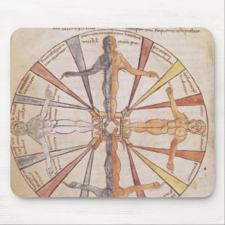 Wheel of the seasons and months mouse pad