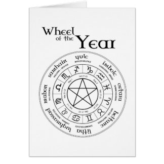 Wheel of the Year - Northern Hemisphere Card