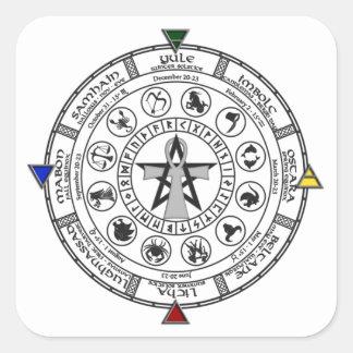 Wheel of the Year Zodiac Sabbats Runes Stickers