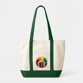 Wheel Pose Multi Color Tote Impulse Tote Bag