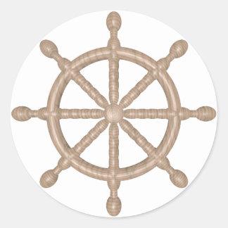 wheel round sticker