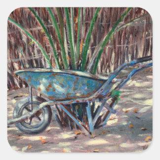 Wheelbarrow 2005 square sticker