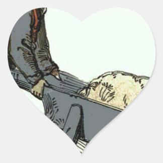 wheelbarrow cat heart sticker