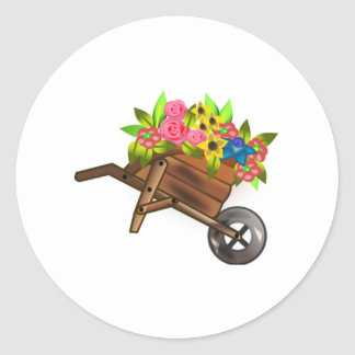 Wheelbarrow Full of Flowers Stickers