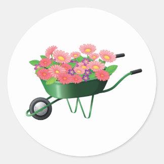 Wheelbarrow Full Of Flowers Stickers