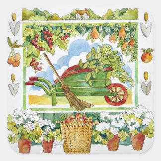 Wheelbarrow - garden surround 2012 square sticker