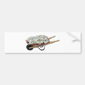 WheelbarrowFullMoney061111 Bumper Sticker
