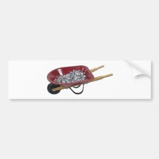 WheelbarrowSilverStones061111 Bumper Sticker