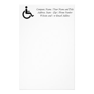 Wheelchair Access - Handicap Chair Symbol Customised Stationery