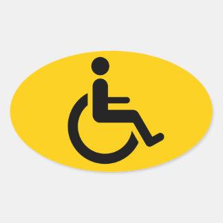 Wheelchair Access - Handicap Chair Symbol Oval Sticker