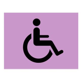 Wheelchair Access - Handicap Chair Symbol Postcard