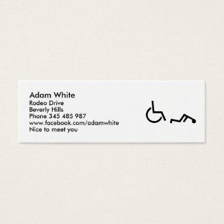 Wheelchair accident mini business card