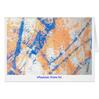 Wheelchair Action Art Large Notecards Greeting Card
