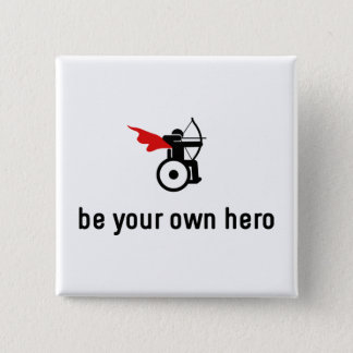 Wheelchair Archery Hero 15 Cm Square Badge