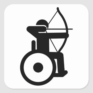 Wheelchair Archery Square Sticker