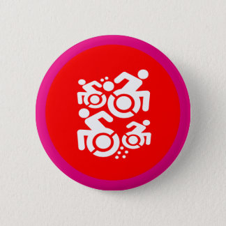 Wheelchair As Art 6 Cm Round Badge