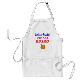 Wheelchair basketball pain now beer later aprons