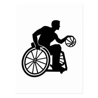 Wheelchair basketball postcard