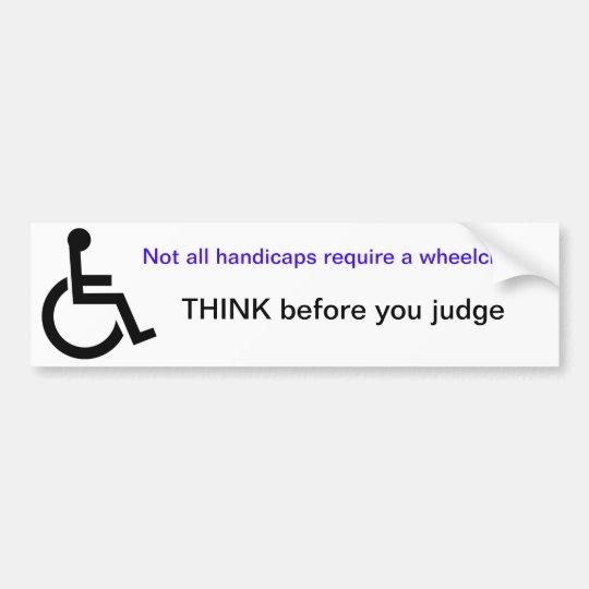 Wheelchair bumper sticker