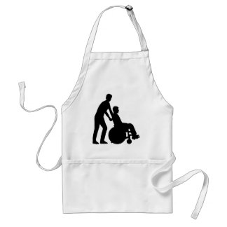 Wheelchair carer aprons