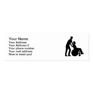 Wheelchair carer business card templates