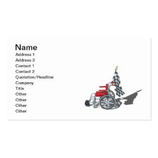 Wheelchair Checkered Flag Business Card Templates
