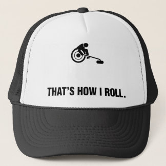 Wheelchair Curling Trucker Hat