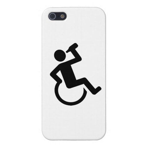 Wheelchair drinking cases for iPhone 5