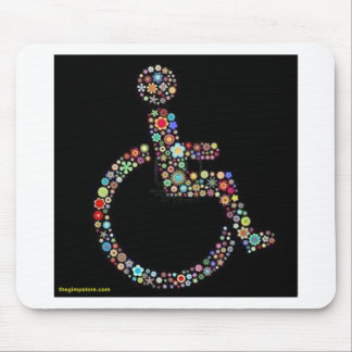 wheelchair_funky_zazzle jpeg mouse pad