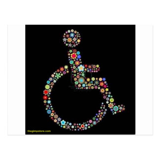 wheelchair_funky_zazzle.jpeg postcard