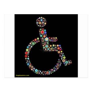 wheelchair_funky_zazzle.jpeg postcard