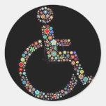 wheelchair_funky_zazzle.jpeg round stickers