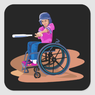 Wheelchair Girl Ball.png Stickers
