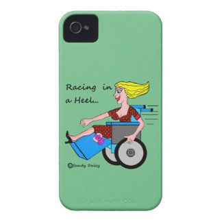 Wheelchair Girl in Heel Amputee on da case Case-Mate iPhone 4 Cases