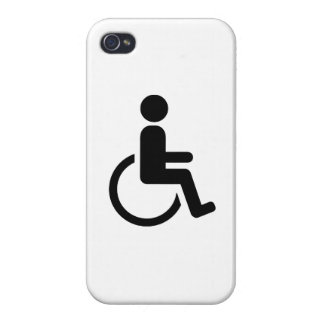 Wheelchair handicaped icon case for iPhone 4
