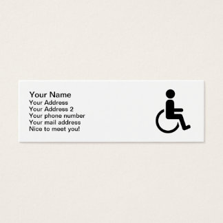 Wheelchair handicaped icon mini business card