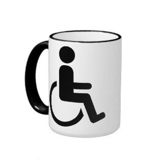 Wheelchair handicaped icon coffee mugs