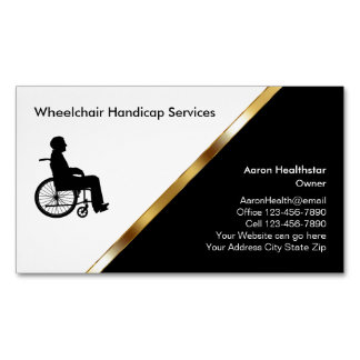 Wheelchair Medical Business Card Magnets Magnetic Business Cards