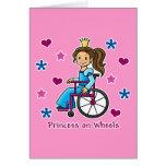 Wheelchair Princess Greeting Card