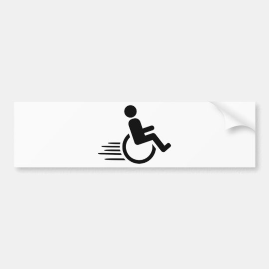 Wheelchair racing bumper sticker