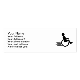 Wheelchair racing business card templates