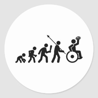 Wheelchair Rugby Classic Round Sticker