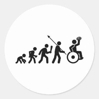 Wheelchair Rugby Round Sticker