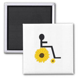 Wheelchair Sunflower Magnet