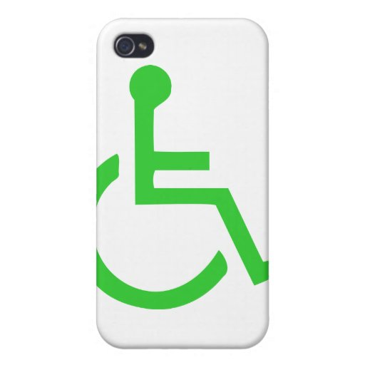 Wheelchair Symbol iPhone 4 Cover