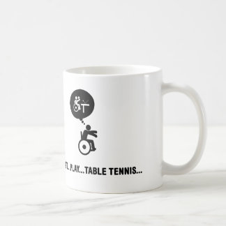 Wheelchair Table Tennis Coffee Mug