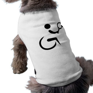 Wheelchair tennis sleeveless dog shirt