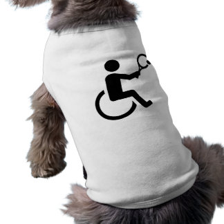 Wheelchair tennis sleeveless dog shirt