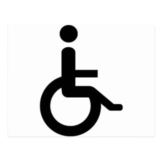 wheelchair user post cards